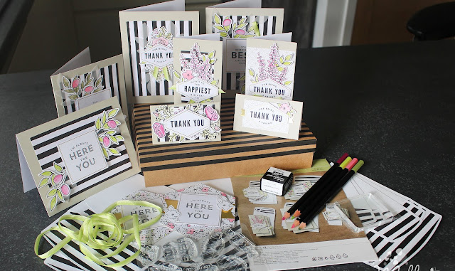 Lots of happy complete card kit- such a great gift!