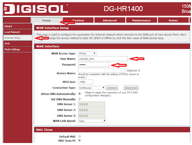 Change Wireless Network Name and Password on digisol