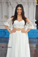 Telugu Actress Amyra Dastur Stills in White Skirt and Blouse at Anandi Indira Production LLP Production no 1 Opening  0087.JPG