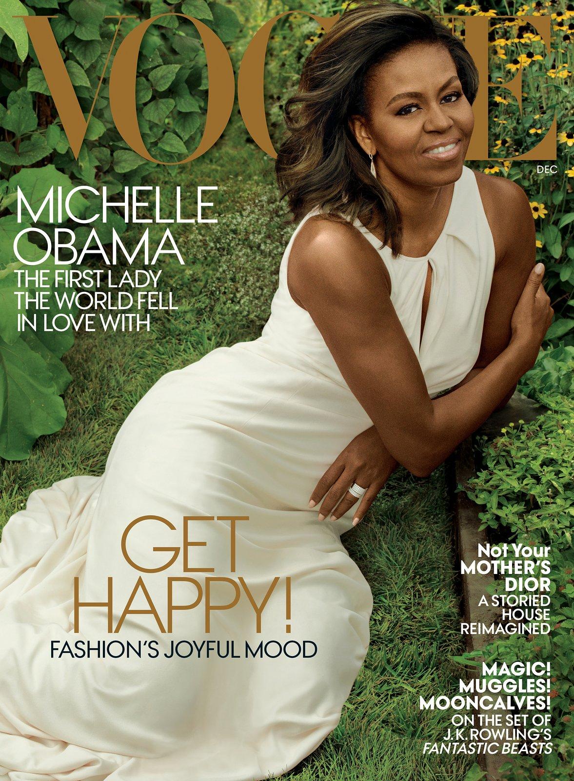 FLOTUS Michelle Obama covers Vogue Magazine, Dec. 2016 Issue