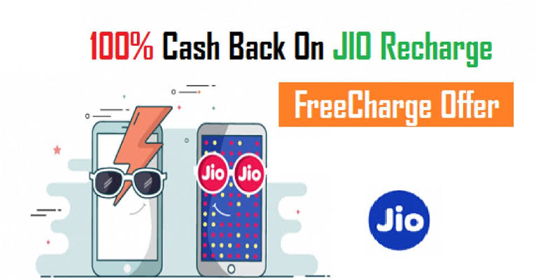 FreeCharge Jio Rs 399 Recharge at Rs 100 Only (MAHA BACHAT)