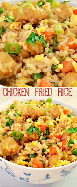 Best homemade Chicken Fried Rice recipe ~ Quick, easy dinner