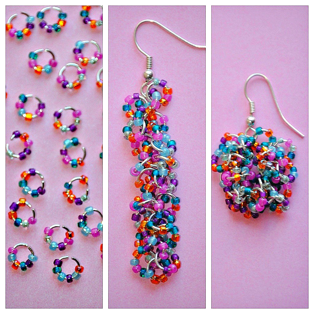 Step 1 Take Your Seed Beads And Jump Rings Use Pliers To Open The A Little Add 6 Each Ring