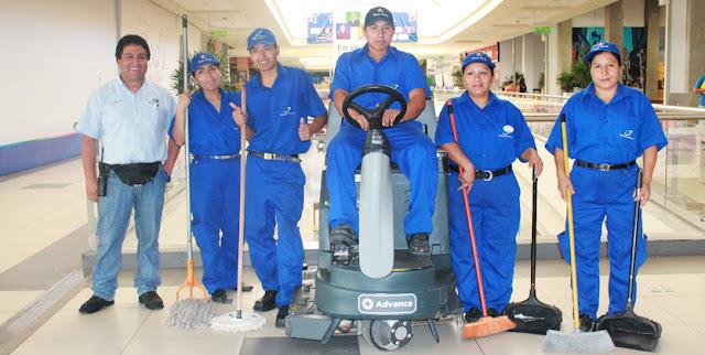 operarios de limpieza