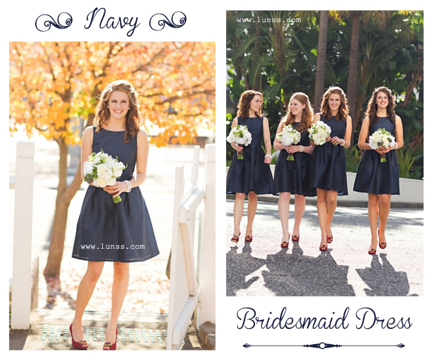 navy-organza-sleeveless-short-cheap-bridesmaid-dress