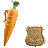 enregistreur carotte et insigne de policier de Judy du film Zootopie