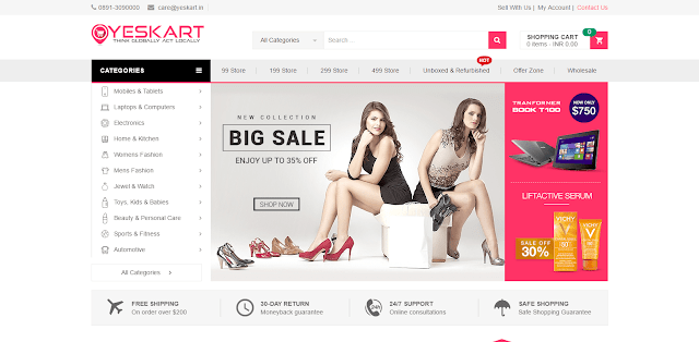Yeskart  launches online shopping website yeskart.in exclusively for India
