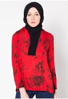 Trend Baju Batik Kantor Wanita Berjilbab