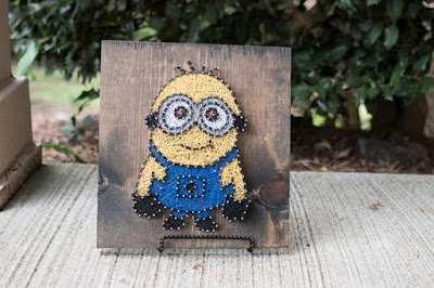 Minions in string art