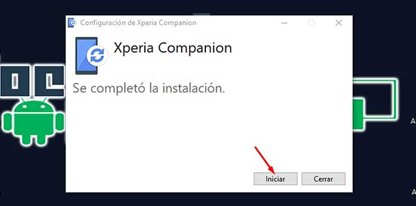 instalar sony xperia companion en windows