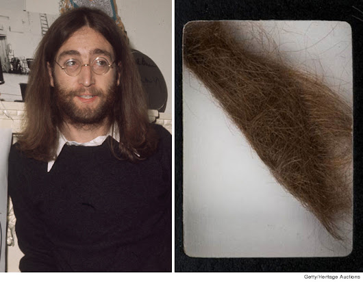 A lucky Bidder Went Home With John Lennon's Hair Which He Bought At an Auction Block.