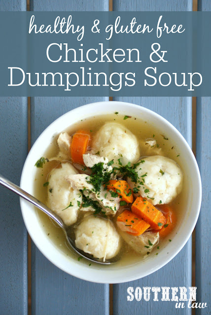 Healthy Chicken and Dumplings Soup Recipe - low fat, gluten free, high protein, healthy, egg free, low calorie, clean eating