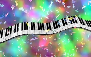 Note musicali con pianoforte