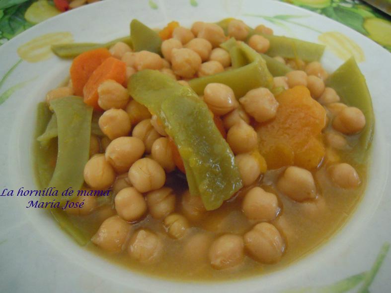 La hornilla de mam potaje de garbanzos con calabaza - Como cocer garbanzos en olla express ...