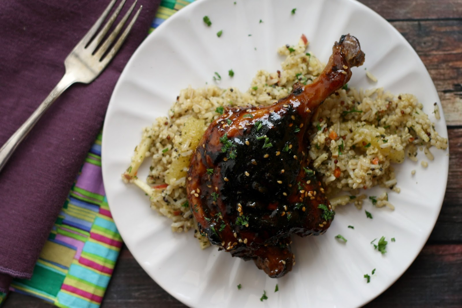Asian-inspired Braised Duck Legs
