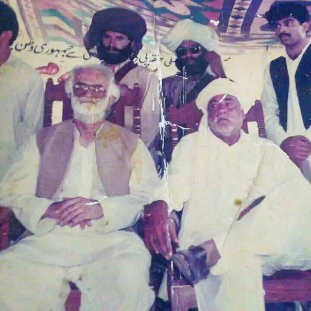 Malik Karam khan Khajjak with nawab Akbar Bugti