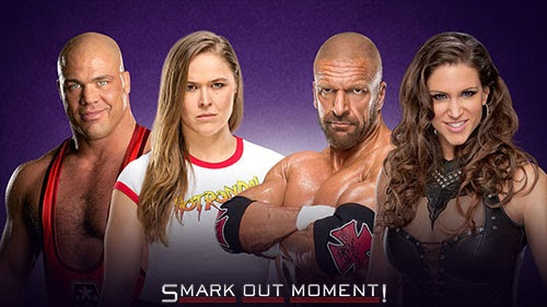WWE WrestleMania 34 Rousey Angle HHH Stephanie McMahon