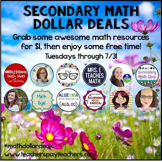 Math $1 Deals Tuesdays in July 2018