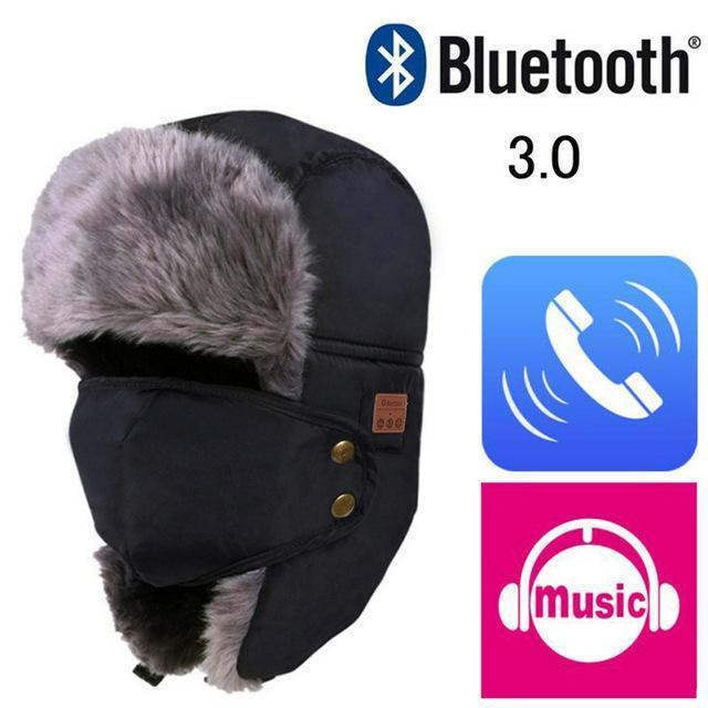 Fur Frosted Unisex Hat Winter Cap Wireless Earphone Soft Cap