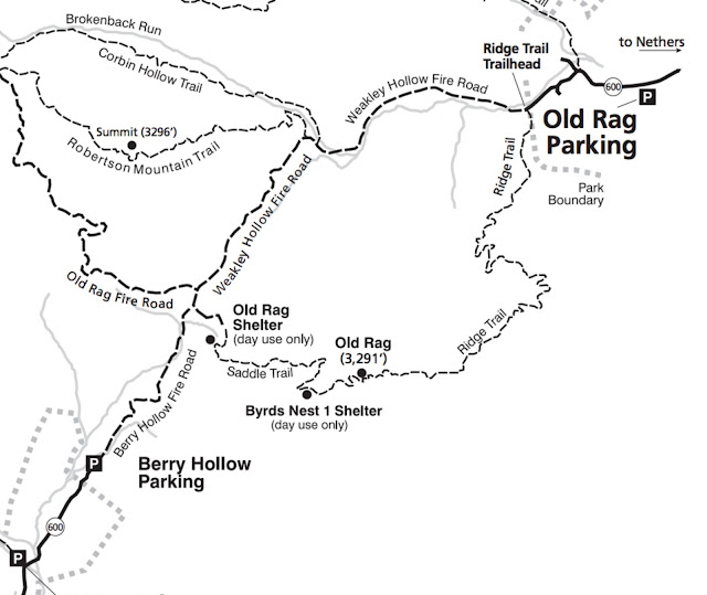 Old Rag Mountain trail map