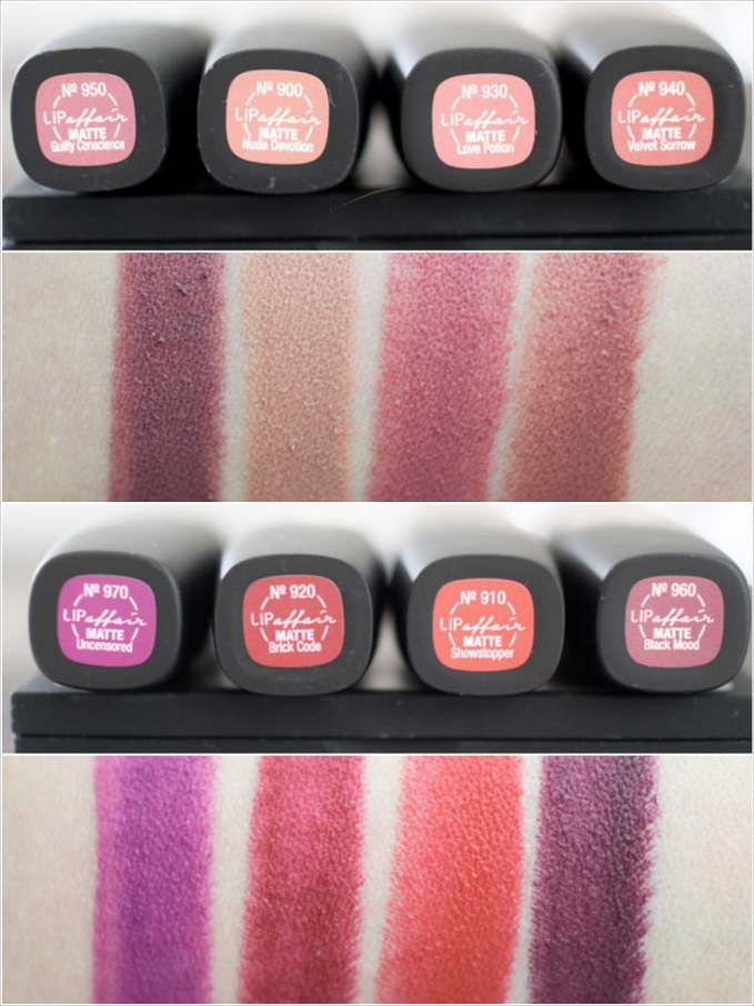 LOV Lipaffair Color & Care Lipstick, Test, Review, Swatches, alle Farben