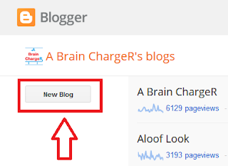 How to create free blog on Blogger with Blogspot subdoman new blog button
