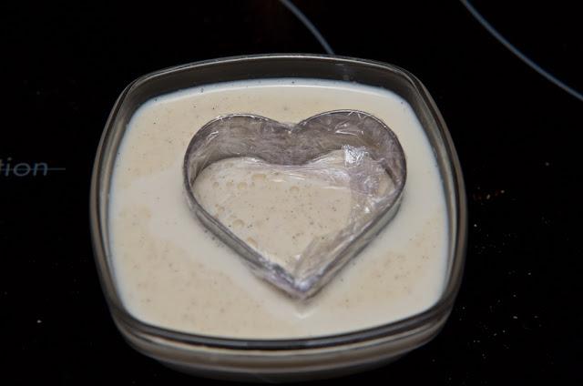 Panna Cotta Nature - Panna Cotta Vanille - Dessert - Crème - Italie - Recette Panna Cotta - Heart - Valentine's Day - Saint-Valentin