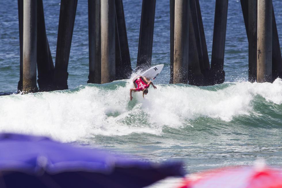 9 Lakey Peterson Vans US Open of Surfing foto Jackson Van Kirk WSL
