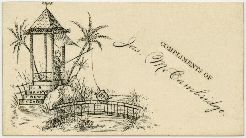 19th century new year card