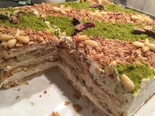 Recette du gâteau courant d'air tunisien aux fruits secs et bananes