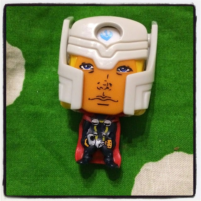 Thor Marvel toy from Kinder Egg