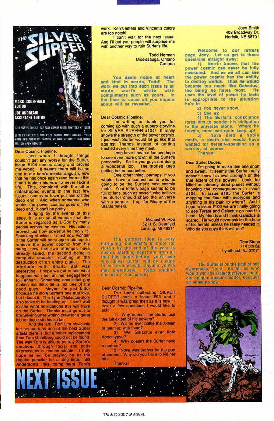 Read online Silver Surfer (1987) comic -  Issue #106 - 33