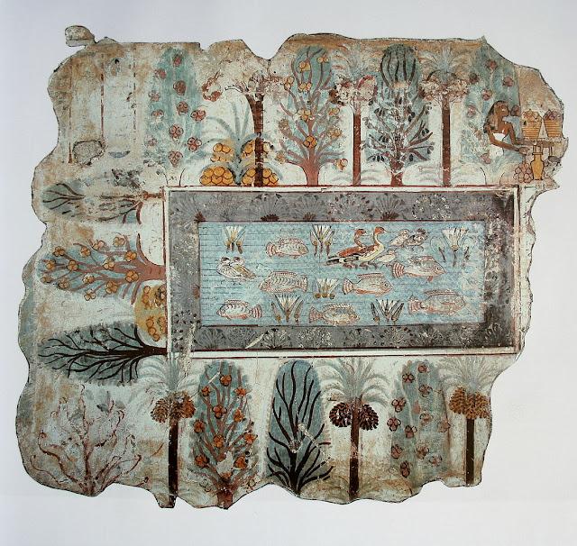 The Garden, fresco from Nebamun tomb, originally in Thebes, Egypt