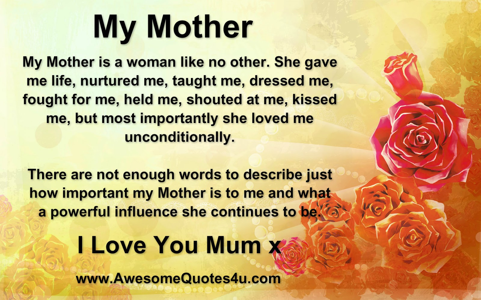 Awesome Quotes I Love You MumxI Love You Mom In Spanish