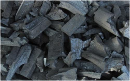 Mangrove lumpwood charcoal