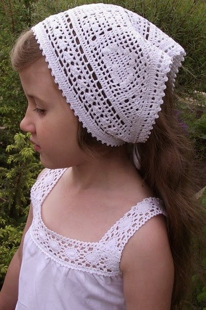 Bandana crochet filet