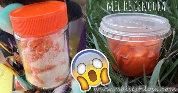 mel de cenoura caseiro para cabelo