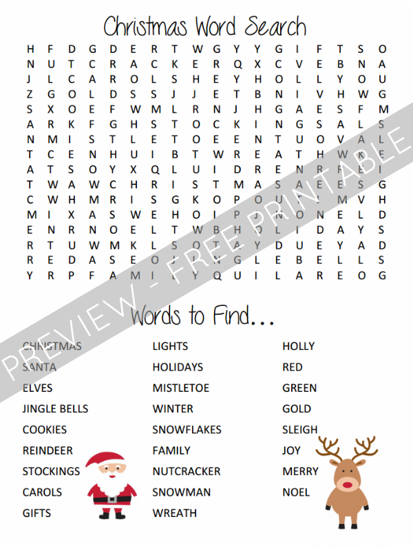 free printable christmas word search for kids from and next comes l