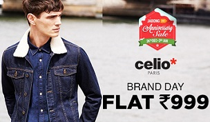 Jabong Brand Day: Celio Paris Men's Clothing – Flat Rs.999 Only