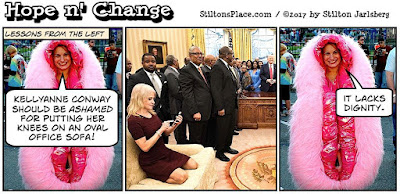 stilton's place, hope n' change, trump, politics, conservative, liberal, vagina, conway, oval office, bill clinton