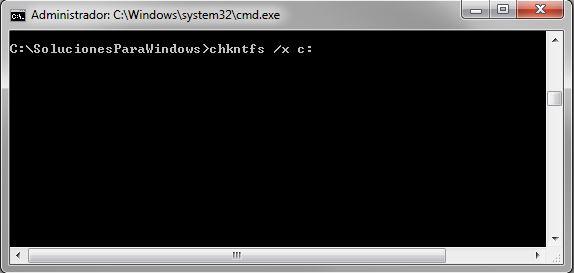 chkntfs /x - Deshabilitar chkdsk de inicio de Windows