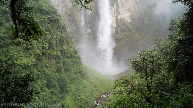 base, salto, caida, agua, selva, catarata, gocta, baño