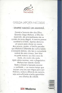 Sempre haverá um amanhã. Giselda Laporta Nicolelis. Editora Moderna. Coleção Veredas. Contracapa de Livro. 2003.