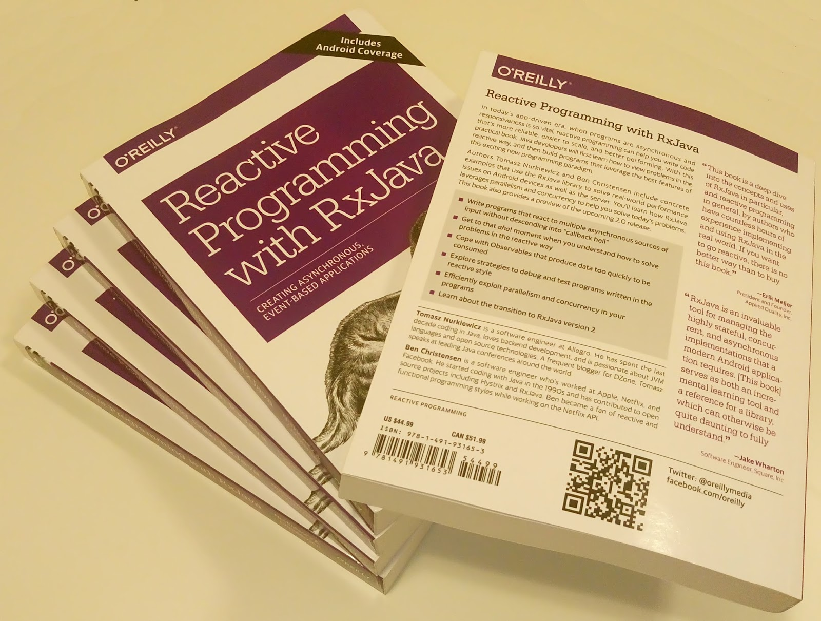 Reactive Programming with RxJava book published