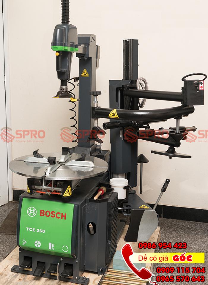 Máy tháo lốp ô tô Bosch TCE-260+TCE60, máy ra vào vỏ xe dành cho gara chăm sóc ô tô