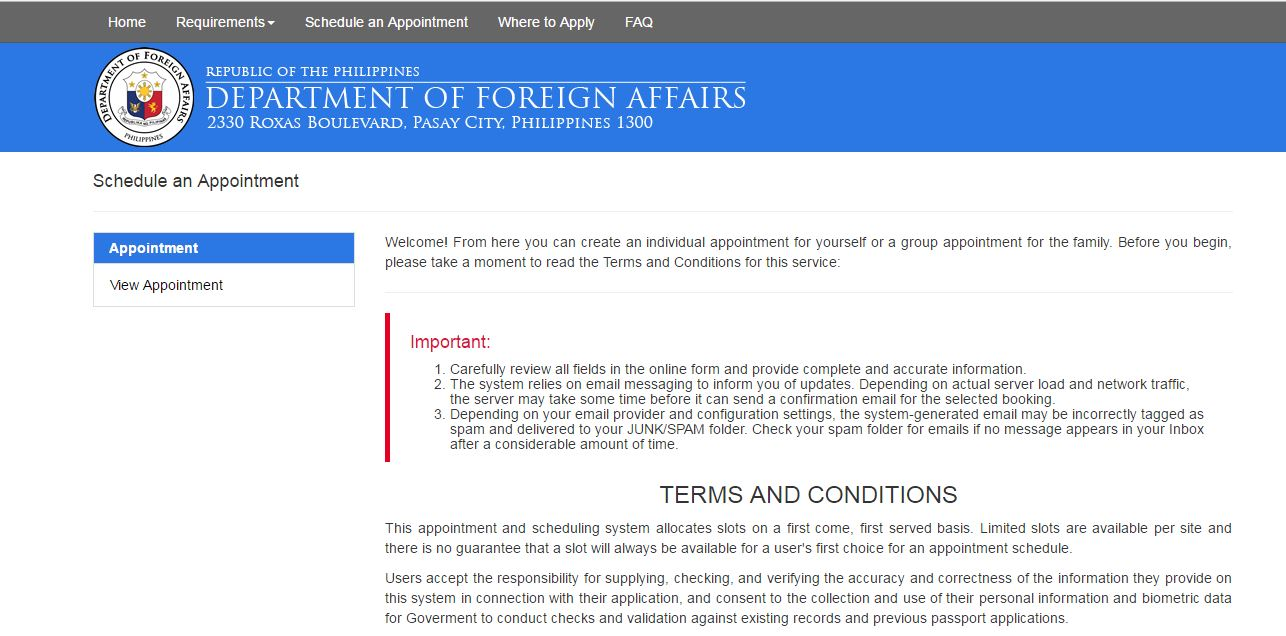 Renewing your Philippine Passport: Online Application