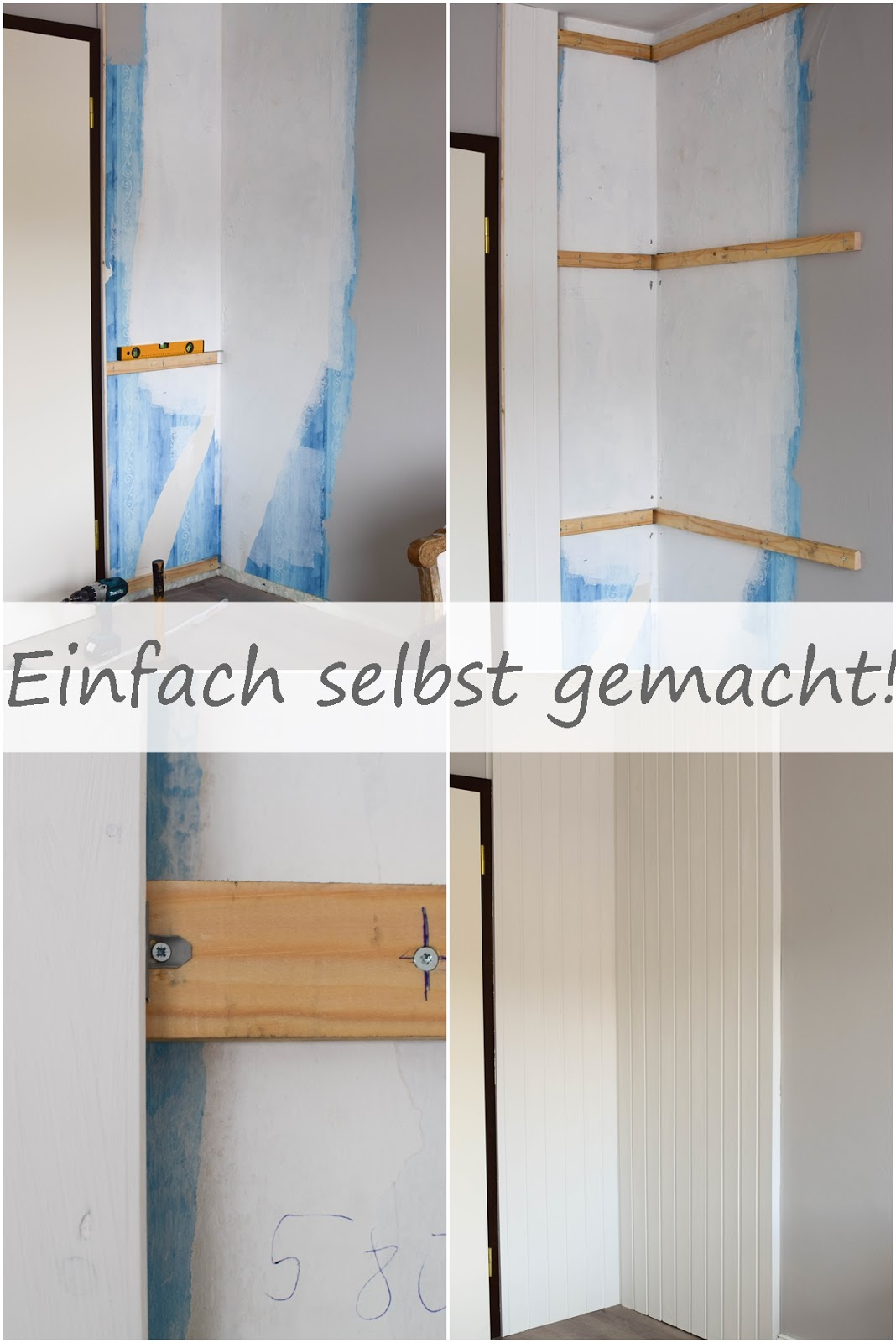 Wandverkleidung DIY Aus Holz Mit Nut Und Federbretter Kreidefarbe Von  Painting The Past Renovierung Vertaefelung Beadboard