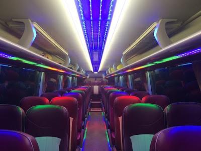 Nội thất xe khách Thaco 47 chỗ ngồi tại Hải Phòng theo tiêu chuẩn châu Âu