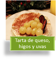 TARTA DE QUESO, HIGOS Y UVAS