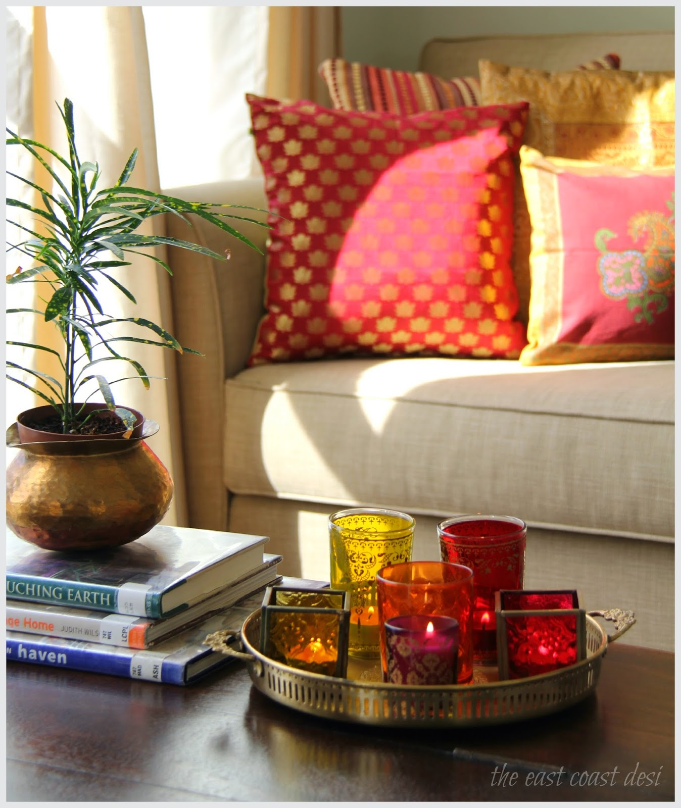 Indian Interior Design Ideas For Dramatic Warm Atmosphere: The East Coast Desi: Glitzing It Up For Diwali (Festive
